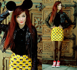 Sonja Gje - Skirt, Shirt - Mickey mouse