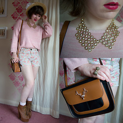 Steph Banks - New Look Jumper, New Look Necklace, Accessorize Bag - Cotton candy