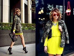 Victoria Platina - Topshop Jacket, H&M Dress, Topshop Boots - Fashionable camouflage