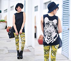 Kookie B. - Apartment 8 Tiger Print Leggings, Topshop Tiger Print Shirt - Tiger