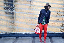 Kadeem Johnson - Levi's® Jacket, Levi's® Pants, Dr. Martens Shoes - Red Loving
