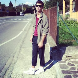 Andrea Bressani - Ray Ban Sunglasses, United Colors Of Benetton Jacket, Basic T Shirt, Sisley Pants, Converse Shoes - Away from the City..
