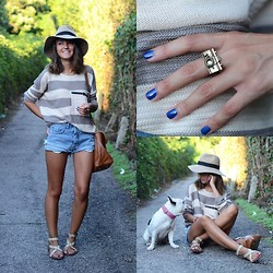 Alexandra Per - Sheinside Sweater, Mih Jeans Shorts, Michael Kors Sandals, Asos Ring, Asos Hat, Massimo Dutti Bag - Wild summer