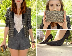 Nika Y - Zara Shoes, River Island Shorts, Vintage Bag, Mango Bracelet - Autumn look