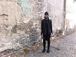M Appelberg - Rick Owens Hat, Rick Owens Vest, Rad Hourani Paneled Pants, Rick Owens Zippered Boots - Who do you think you are?