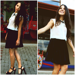 Mariel Vargas - American Apparel Shirt, American Apparel Skirt, Blvd Shoes - JUST hAPPY