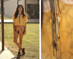 Ashley Overbeek - Myanmar Sweater, Thrifted Shorts, Swap Meet Necklace - Autumn.