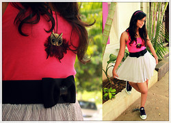 Prerna Hundia - Knitted Pink Tank Top, Gathered Skirt\ - Converse & Pink <3