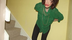 Holly Marie Halliwell - New Look Chiffon Blouse, New Look Skinny 'Jeggings', Dorothy Perkins Gold Chain - Killing time.
