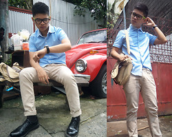 Judyson Dumapias - People R Polo, Penshoppe Khaki Pants, Gibson Naval Shoes, Salvator Mann Bag, Glashutte Watch, Sm Accessories Hipster Glass - The Boy Next Door