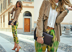 Nicoletta Reggio - Pinko, Yves Saint Laurent Ysl, Toyg, Queens Wardrobe, Michael Kors - Jungle print