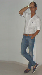 Christian Barrera P. - U.S Regatta White Shirt, Zara Blue Jean, Bershka Leathert Belt, Zara Nauticos - Look at the future