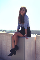 Arizka Sehoko - Camp Beverly Hills Sweater, American Apparel Skirt, Asos Boots - Sweater Weather