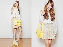 Tricia Gosingtian - Aje Top, Tracyeinny Skirt, Dazzled Bags Bag, Forever 21 Hairpin, Cmg Wedges - 101012