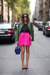 Eleonora Carisi - Co | Te Ss13 Skirt, Paula Cademartori Studded Bag, Peuterey In Collab With Co | Te, Dolce & Gabbana Dolce&Gabbana Sunglasses - Spotted at Gucci