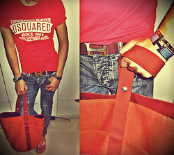 "Alexander Child - Hermës Hermes ""H"" Logo Bracelet, Hermës Hermes Bag, Dsquared Tee, Seiko Watches, April 77 Jeans, Havaianas Sandals, Hermës Hermes ""H"" Logo Belt, Love Cariter 18k Gold ""Love"" Bracelet - ""RED"" & ""HERMES"""