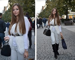 Denisa Dee - Zara Shoes, Zara Belt, Guess? Pants, Guess? Vest, Aj Bag - Skyfall