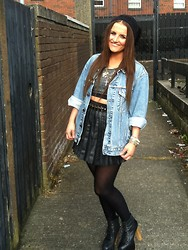 Megan Meenan - Levi's® Levi Jacket, Leather Skirt, Urban Outfitters Belt, Litas - Back to the 80s
