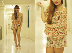 Giuliana Anastacio - Garage Manila Floral Top, Redhead Floral Shorts, Made By Me Gold Necklace, Syrup Shoes - FLORAL WONDERLAND