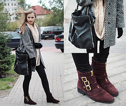 Karolina Sabała -  - Burgundy boots and new coat