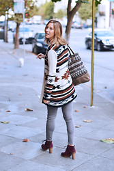Amanda H. - Bb Dakota Navajo Sweater, Gap Skinny Jeans, Michael Kors Lace Up Booties - Navajo Prints for Fall