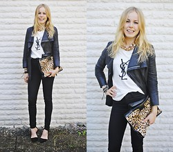 Frida Johnson - Jacket, Bikbok Necklace, Shirt, Bag, Heels - HAPPY FRIDAAAAY!