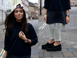 India Rose - Ralph Lauren 6 Panel, Nike Sweater, Topshop Skinny Jeans, Asos Customised Loafers - STYLE OVER STATUS