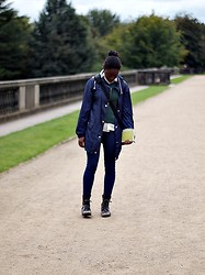 Olutosin K - H&M Blue Jeans, River Island Military Boots, Raincoat, Gap Green Jumper, Charity Shop Cream Shirt - You, Me and YSP