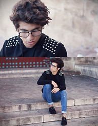 Ayoub Mani - Dsquared Eyewear, Y Two Jeans Sweater, Jeans Getwear, Creepers Shoes - WE COME IN PEACE