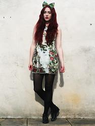 Megan McMinn - Dress, Bambi Bow, Topshop Boots - ENCHANTED FOREST.