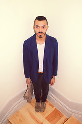 Rui Braga - Vintage Blazer, Pull & Bear Black Jeans, Eureka Suede Shoes, Parfois Bag - Have you created a life for yourself?