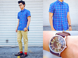 David Guison - Memo Button Down, Kenneth Cole Watch - Freaky Geeky