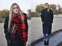 Dominica Justyna - Gina Tricot Coat, Zara Heels - My lovely grey coat!