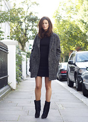 Hedvig ... - Iro Wool Dress, Isabel Marant Coat, Isabel Marant Boots - Cozy LBD