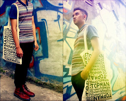 Audy Chikal - Topman Tote Bag, Topman Navajo Shirt, Dr. Martens Brown Boots - If Its Not You, Its Not Love...