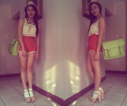 Xandra Torres - Top, Topshop Shorts, Satchel Bag - Off to school!