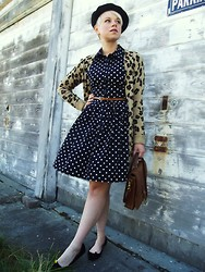 Catie Beatty - Forever 21 Dress, American Apparel Beret - Fall patterns
