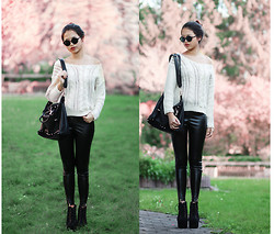 Anna Zhu - H&M Leather Pants, Jeffrey Campbell Boots, Vintage Studded Bag -  I am Jack's smirking revenge.