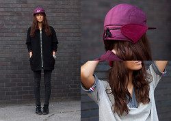 India Rose - Asos Bomber Coat, Supreme Hat, Yesimfrench Baseball Tee, Topshop Skinny Jeans, Romwe Wedge Sneakers - YA BISH