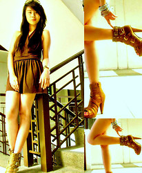 Jeraldine Yumang - Mango Dress, Parisian Boots, People Are Jewelry - Young,Typical Girl <3