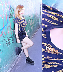 Patchie Valerio - Yves Saint Laurent Brooch, Calvin Klein Shorts - DOWNTOWN