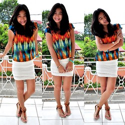 Geraleen Nicole Gaytano - Top, Forever 21 Skirt, Payless Sandals - Vibrant Sunday