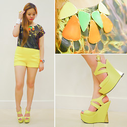 Raizelle So - Parisian Yellow & Gold Wedges - Fired Up