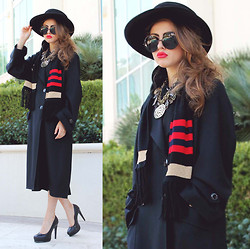 Bebe Zeva - Chanel Cruise 2012 Trench Coat, Chanel Moscow 2009 Scarf, Lanvin Charm Necklace - BON VOYAGE