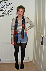 Abbie P - Topshop Top - Tartan & stripes