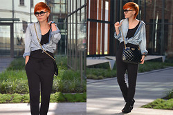 Monica W. - H&M Denim Shirt, H&M Jumpsuit - 121022FASHMODE