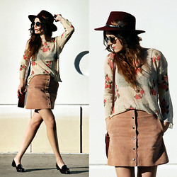 Laura Views - Sheinside Jumper, Topshop Skirt, Parfois Hat, Bimba&Lola Shoes - Time for a jumper