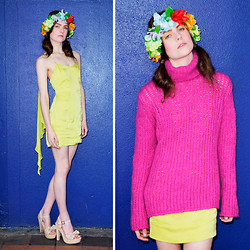 Jessica W - Topshop Dress, United Colors Of Benetton Knit, Glassons Heels - If I was a bird