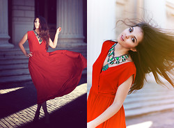 Doina Ciobanu - Di Vero Red Dress - YOU FIT ME LIKE MY FAVORITE DRESS