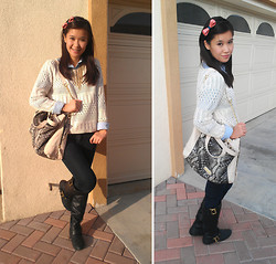 Wing Y. - Forever 21 Sweater, Bamboo Boots, Steve Madden Bag, Forever 21 Jeans, Tommy Hilfiger Button Up - Sincerely Yours